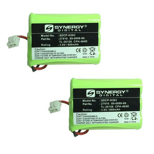 AT&T-Lucent 27910 Cordless Phone Battery Combo-Pack includes: 2 x SDCP-H303 ()