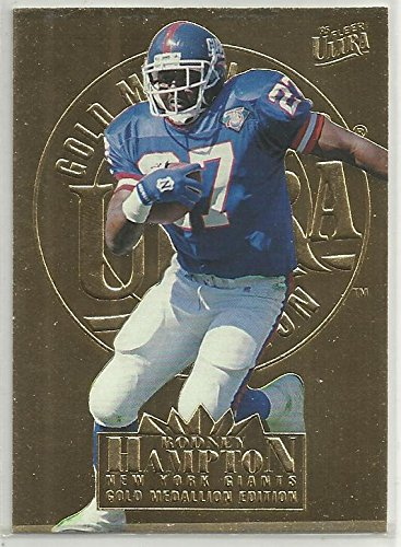 Hampton Medallion (Rodney Hampton 1995 Ultra Gold Medallion NFL Football Card #227 New York Giants)