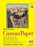 """Strathmore 300 Series Canvas Pa, 12""""x16"""" Glue Bound, 10 Sheets"""