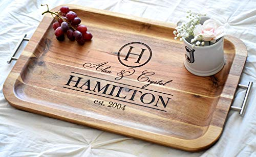 - Personalized Serving Tray - Personalized TV Tray with Handles - Breakfast Tray - Breakfast In Bed - Wood Serving Tray Bed Tray Table Breakfast Bed Tray