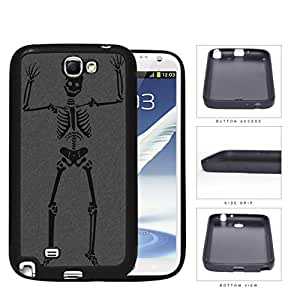 Happy Halloween Skeleton Rubber Silicone TPU Cell Phone Case Samsung Galaxy Note 2 II N7100