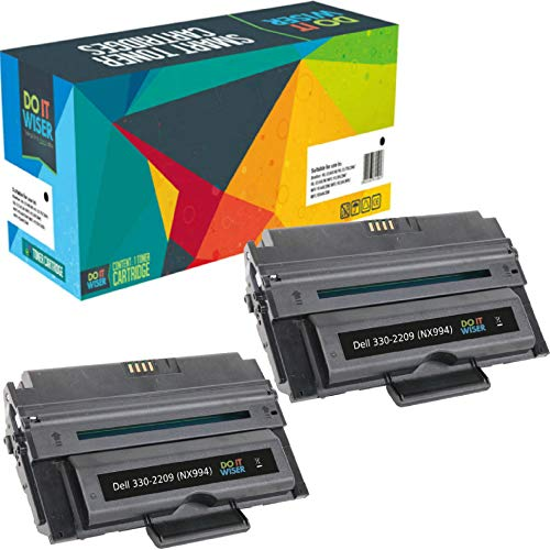 Do it Wiser Compatible Toner Cartridge Replacement for Dell 2355dn Dell 2335dn | 330-2209 NX994 (2 Pack - 6,000 Pages) ()