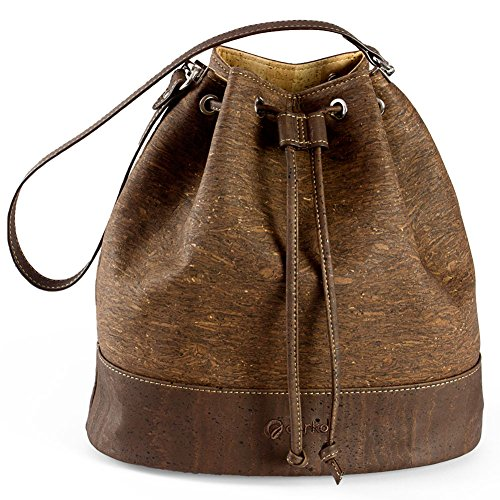 Cork Corkor Bag Leather Shoulder Handbag Zebra Crossbody Non Bucket Women for Vegan Tree qvqT4S