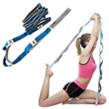 Little World Yoga Stretching Strap with Loops Durable Cotton Exercise Straps for Exercise, Physical Therapy, Dance, Fitness & Pilates