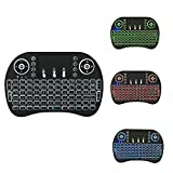 Jabond BK8 Backlit Wireless Mini Keyboard Cross-Compatible: Works with iOS, Android, Mac and Windows, with shortcut keys for all four systems. It works as a mouse, which converts your space movement in the air into an accurate displacement on...