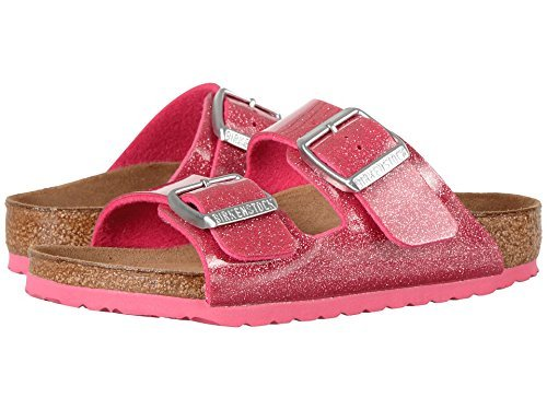 Birkenstock Women's Arizona  Birko-Flo Galaxy Rose Birko-flor Sandals - 33 (US 2-2.5 Little Kid) Narrow