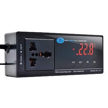 Petzilla Aquarium Temperature Controller with NTC SenSor Probe 110V ac 1100W