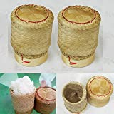 Thai Handmade Sticky Rice Serving Basket Small Size (Pack of 2)
