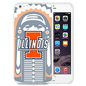 New Fashion Custom Designed Cover Case For iPhone 6 Plus 5.5 Inch Phone Case With Ncaa Big Ten Conference Football Illinois Fighting Illini 10 Protective Cell Phone TPU Cover Case for Iphone 6 Plus Generation 5.5 Inch White