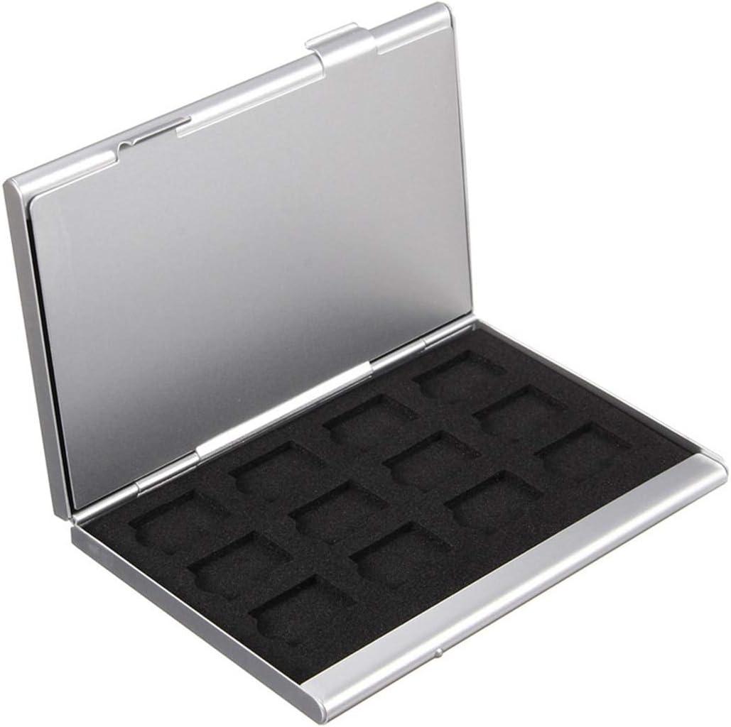 Caja De Almacenamiento De La Tarjeta De Memoria De Aluminio Plateado Estuche para Tarjeta De Memoria Micro SD 24Tf: Amazon.es: Electrónica