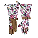 Womanswork Floral Pattern Arm Saver Gloves, Large