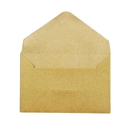 20 sobres de papel kraft de 3 colores, 105 x 65 mm, ideal ...