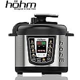 Hohm Electric Multi-Functional Pressure Cooker HEC001 6 Quart 8 Preset Settings 1000 Watt