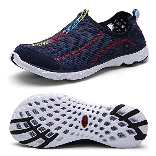 Trainers Mesh Slip Water Ladies Shoes Navy on QANSI Breathable Womens XETqqI