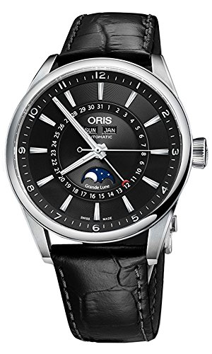 Oris Artix Complication Moonphase Automatic Mens Watch 915-7643-4034LS
