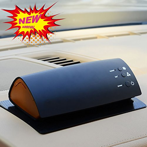 HAYATA Portable Car Air Purifier,Ionizer,Ionic Air cleaner, Car Air Freshener and Order Eliminator removers cigarettes Smoke, smell and bad odors,Help Kill Germs and Bacteria's Home Office Accessories HAYATA