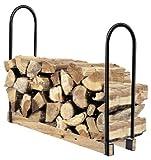 Goplus 44'' Firewood Log Rack Indoor/Outdoor Storage Holder Steel (Adjustable)