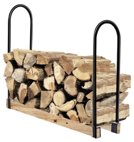 Goplus Firewood Log Rack Indoor/Outdoor Storage Holder Steel (Adjustable)