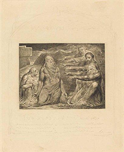 Artist: William Blake | Print: Job Rebuked by His Friends | Date: 1825 | Vintage Fine Art - Artist William The
