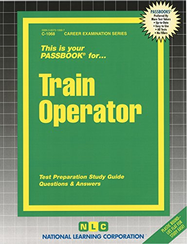 Train Operator(Passbooks) (Career Examination ; C-1068)