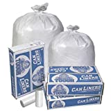 Pitt Plastics Mighty Tough White Star Perforated Roll Coreless Can Liner, 33 Gallon - 150 per case.