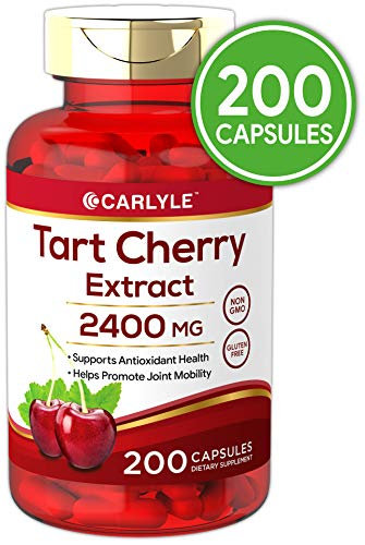 (Tart Cherry Extract Capsules | 200 Count | 2400 mg | Non-GMO and Gluten Free Supplement | by Carlyle)