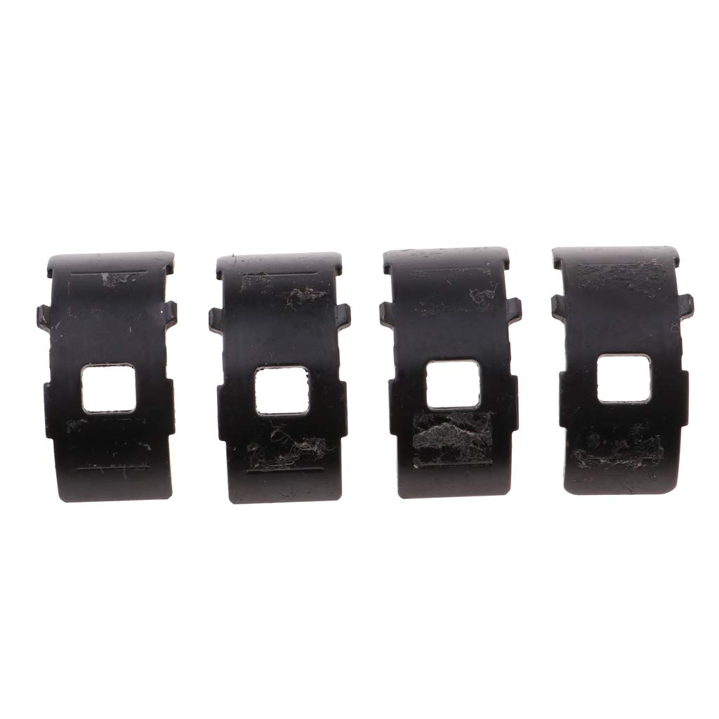 IPOTCH 2 Pairs Front Derailleur Clamp Adapter Black Foldable Bike Bicycle Derailleur Clamp Clip Converter 34.9mm to 31.8mm