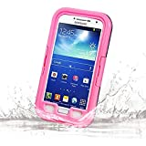 Galaxy S4 Waterproof Case, Vcloo® 20ft Galaxy S4 Waterproof Case, Dust Proof, Snow Proof, Shock Proof, Heavy Duty Protective Carrying Cover Case for Galaxy S4 with Transparent Screen Protector (Pink)