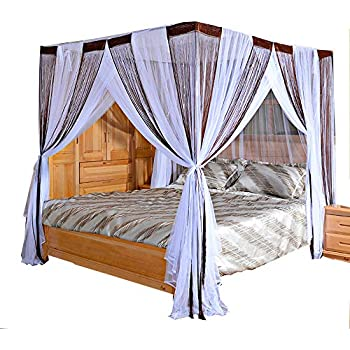 Mengersi bed canopy curtain mosquito net 4 - Canopy bed ideas for adults ...