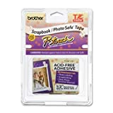 Brother 1/2'' Tze Tape 12Mm Black/White Acid Free