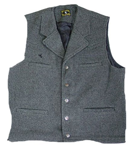 Wyoming Traders Men's Buckaroo Vest Large Charcoal