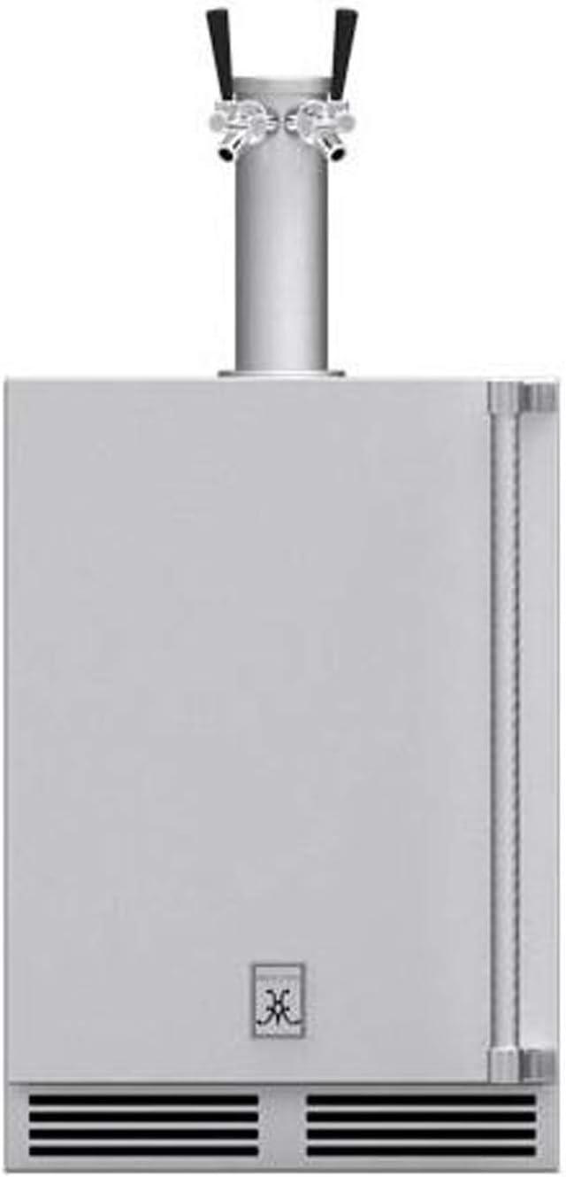 Hestan 24-Inch 5.2 Cu. Ft. Left Hinge Outdoor Rated Double Tap Beer Dispenser - GFDSL242