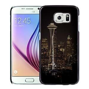 Fashionable Custom Designed Samsung Galaxy S6 Phone Case With Seattle Space Needle Night City Skyline_Black Phone Case Kimberly Kurzendoerfer