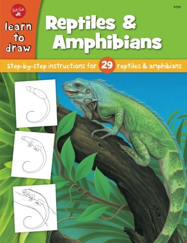 Turtle Activity Book - Learn to Draw Reptiles & Amphibians