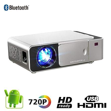 WZHESS Proyector LED de resolución 720P, Proyector portátil de ...