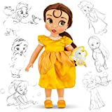 Disney Animators' Collection Belle Toddler Doll - 16'' with Plush Friend, Chip