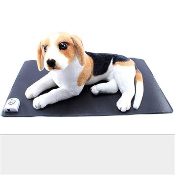 FAMLYJK Almohadilla Térmica para Mascotas, Almohadilla Eléctrica para Mantas De Cama para Perros Cama Climatizada Impermeable para Mascotas,Black: ...