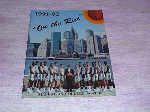 1991 1992 MANHATTAN JASPERS COLLEGE BASKETBALL MEDIA GUIDE EX