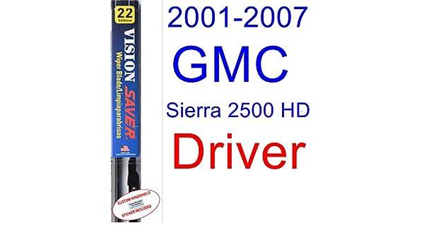 Amazon.com: 2001-2007 GMC Sierra 2500 HD Wiper Blade (Driver) (Saver Automotive Products-Vision Saver) (2002,2003,2004,2005,2006): Automotive