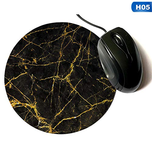 - JHCOVEL Fashion Design Marble Mouse Pad Round Gold Sequin Power Turquoise Marble Printing Mousepads Game Mushroom Rubber Pad H05 20cm