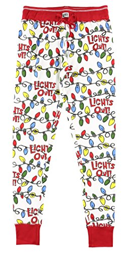 Legging Christmas Pajama Sets for Women l Fun Animal Leggings Size XS - XL … (X-Large, Lights Out Leggings) (Ladies Pjs Christmas)