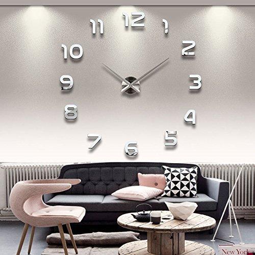 ANGAZURE DIY Groß Wanduhr Modern 3D Groß Acryl Wall Clock Home Wohnzimmer Küche Wandtattoo Dekoration (A1)