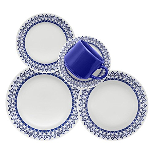 - Oxford 20 Piece Greece Collection Donna Dinnerware Set