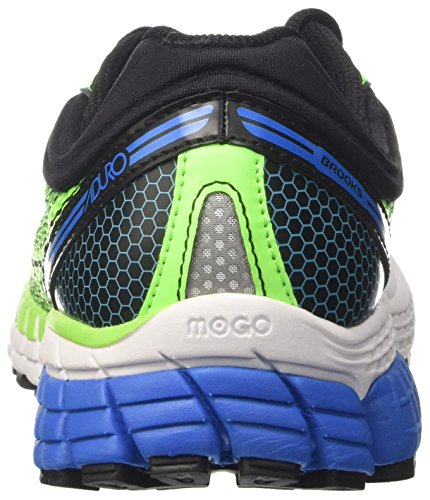 Brooks Aduro 4, Scarpe Running Uomo Multicolore (Greengecko/Black/Electricbluelemonade)