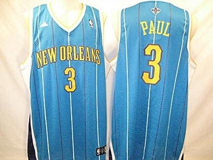 f335c08c316 Amazon.com   Chris Paul New Orleans Hornets Teal 2XL Adidas Swingman ...