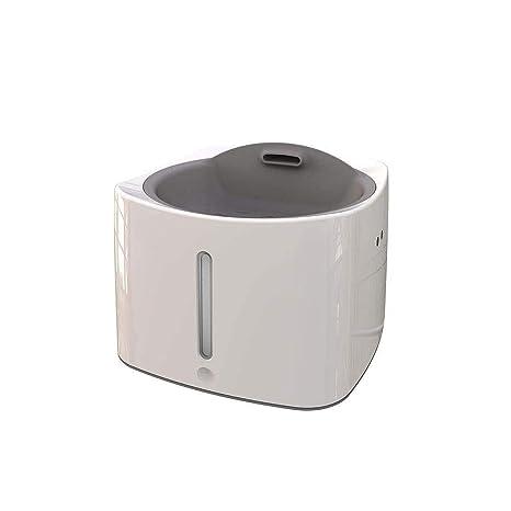 GLMAMK Dispensador de Agua Inteligente para Mascotas, Sensor infrarrojo de 3 Lados inalámbrico, Fuente