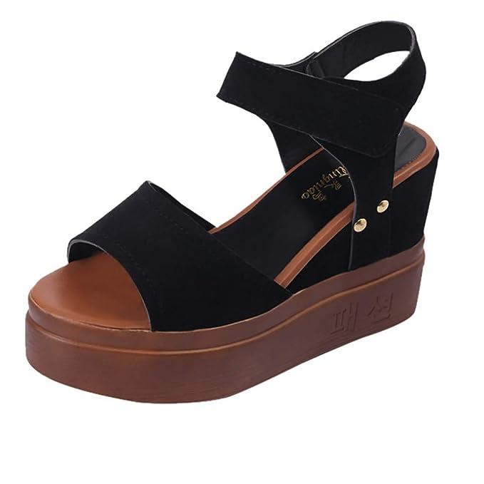 51ad343c587a Amazon.com  Women Wedge Sandals Summer