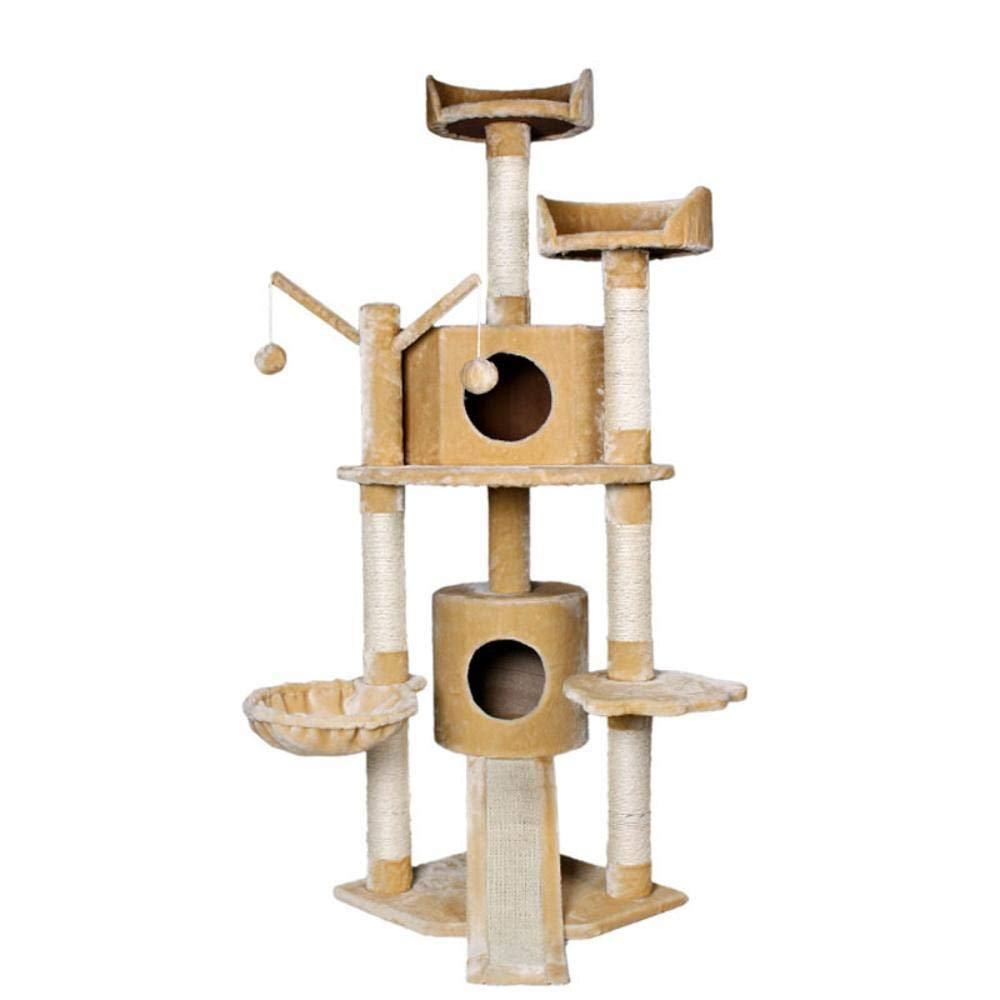 Hexiansheng Cat Climb Trees Pet Products Processing Cat tree 49  49  160cm