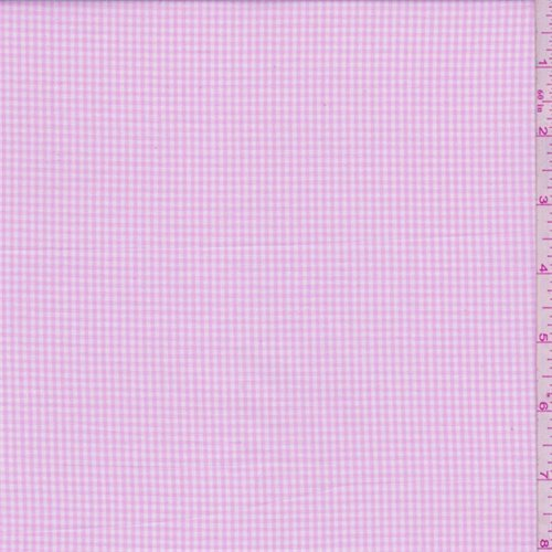 Baby Pink Gingham Check Cotton Shirting, Fabric by The Yard