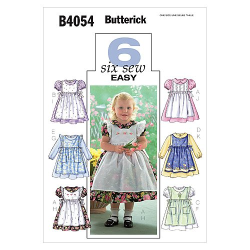 - Butterick Patterns B4054 Toddlers' Dress and Pinafore, All Sizes